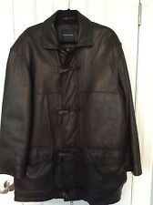 Andrew Marc New York Men's Brown Leather Jacket Size M