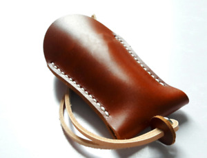 key bag case chain box genuine Cow Leather Pouch Customize handmade brown Z789