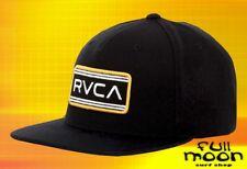New RVCA Indus Five Panel Mens Black Snapback Cap Hat