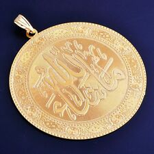 XUP002-24K Gold Filled Womens Mens Big Round Pendant For Necklace Arab style