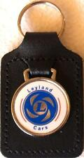 Leyland Cars Keyring Key Ring - badge mounted on a leather fob