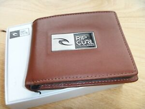 RIP CURL Stack Awatu 2 wallets in 1, Genuine leather Maroon Brown Brand new