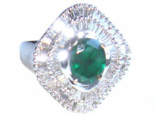 2.46ct Emerald & Diamond Ring in 18k White Gold