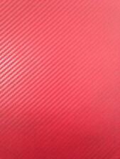 Envoltura de Vinilo con textura 3D Fibra de Carbono Marco de bicicleta Rojo Cinta De Protección 750 X 50mm