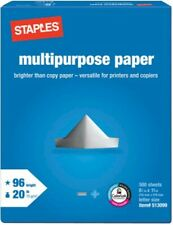 "STAPLES Multipurpose Copy Paper 1-Ream of 500 8.5""x11"" Sheets Printer/Copier/Fax"
