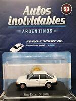 Ford Escort GL (1988) Diecast 1:43 Autos Inolvidables Argentina w/mag