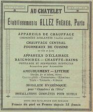 Z8522 Appareils de chauffage ALLEZ - Pubblicità d'epoca - 1913 Old advertising
