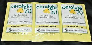 CERALYTE® 70 ELECTROLYTE - LEMON DRINK MIX - 50 GRAM PACKET 3 PAK 10/2022