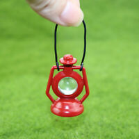 1:12 Miniature Red Kerosene Lamp Dollhouse Diy Doll House Decor Accessori ME