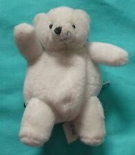 """Polar Bear Change Purse with Key Ring - 5"""" Plush - Girls"""