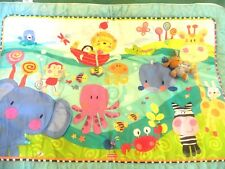 Fisher Price Playmate Precious Planet Baby Activity Floor Jungle/Ocean Blanket