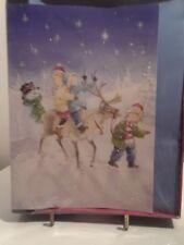 Trim A Home 16 cards Children riding Reindeer Christmas Cards and Envelopes