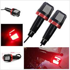 2 Pcs Motorcycle Waterproof Handlebar Turn Signal Bar End LED Side Marker Lights