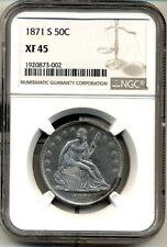 1871-S SEATED  HALF dollar XF/AU - NGC XF45