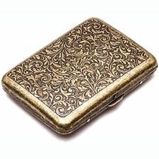 Vintage Metal Cigarette Case Box Gold Men Tobacco Holder for 20s 85mm King Size