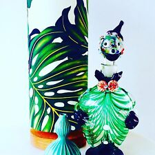 Retro Monstera tropical table lamp