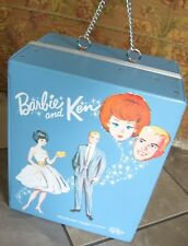 VNTG 64 Barbie & Ken Blue SPP Doll Case Trunk Compl w/ Drawers Hangers Strap