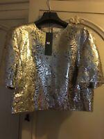 DROMe ladies gold top size S