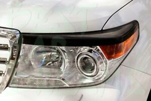 HEADLIGHT EYEBROWS COVERS TRIM FOR TOYOTA LAND CRUISER LC 200 2012-2015