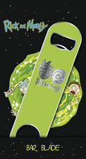 Rick and Morty Logo Green Bar Blade Bottle Opener 18 X 4cm