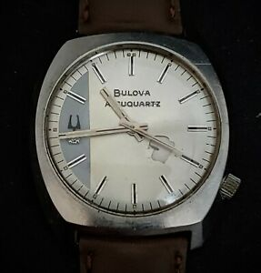 Vintage Bulova Accuquartz 218 movement Mens watch - 1972 -Diamond Accent