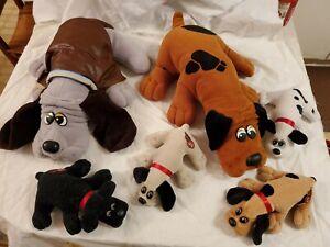 Vintage 1985/1986 Tonka Pound Puppies Lot of 6 Plush Dogs & Pups Stuffed
