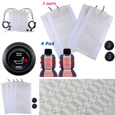 2 Seat 4Pc High/Low Switch Carbon Fiber Car Seat Heater Heated Pad Universal 12V