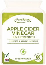Apple Cider Vinegar 60 High Strength Capsules Diet Weight loss & Sugar Balance