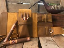 Handcrafted Leather Cigar Pouch with cutter