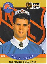 LOT of 2 OWEN NOLAN 1990-91 Pro-Set #401, UD #352 ROOKIES NM-MT Quebec Nordiques