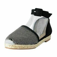 806f4bdd933d Giuseppe Zanotti Design Women's Ankle Strap Espadrilles Flat Shoes US 6 IT  37
