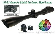 UTG 30mm 6-24X56 36 Color/IE Scope, SWAT AO, Etched Mil-dot, EZ-TAP, w/Rings