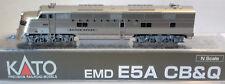 N Scale KATO EMD E5A 'CB&Q' Black Nose DCC Ready Item #176-5401