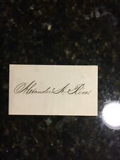 Alexander Hamilton Rice  MA Congressman 1859-66, Governor 1876-78 card #2