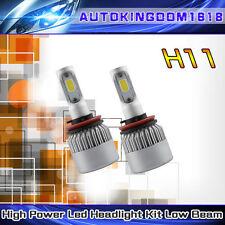 COB LED Headlight Kit H8 H9 H11 200W 6000K 20000LM Bulbs Pair Xenon White