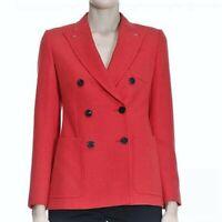 MAX MARA, Sartorial 100% Wool Blazer in Red, Size 2 US, 4 GB, 32 DE, 36 IT