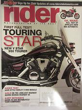 Rider Magazine February 2009 First Full Test Touring Star V Star 950 Tourer Apri