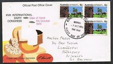 Australia 1970. FDC to UK. Dairy Congress. 3 x 6c stamps.