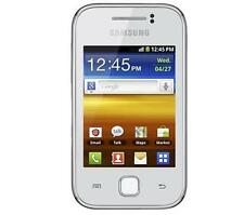 Téléphones mobiles blancs Samsung avec android