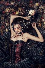"Victoria Frances Poster ""skull/Girl"""