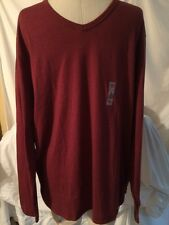 Old Navy Burgundy Long Sleeve Men's V-Neck Shirt Size Extra Large New!