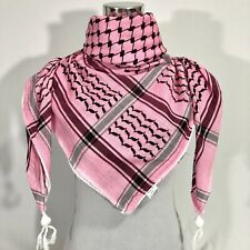 Hirbawi Scarf Arab Shemagh Original Keffiyeh Classic Pink, Brand Cotton 100% NEW