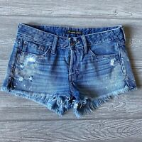 Abercrombie and Fitch blue Jean Shorts Womens Size Tag 27 actual 30