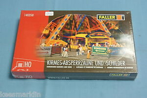 Faller 140358 Fairground Barriers and Signs Kit HO