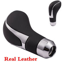 Real Leather Car Gear Shift Knob Stick Manual Automatic Shifter Lever Universal