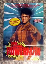 POWERMAN * JACKIE CHAN - VIDEO-POSTER A1 (60x84cm) Ger 1-Sheet ´87 Faai Caan C
