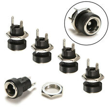 10 Pcs DC 12V Power Supply Jack Socket Female Panel Mount Connector 5.5 x 2.1mm