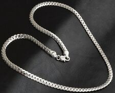925 Sterling Silver Men's Women's Wide Curb Link Chain Necklace +GiftPkg D261