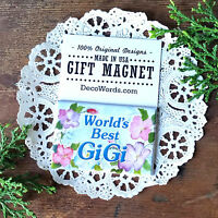 DECO Worlds Best GIGI MAGNET Pretty floral Gi Gi Fridge Gift DecorativeGreetings