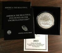 2013P ATB White Mountain uncirculated 5 troy oz, .999 pure New Hampshire